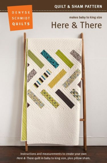Here & There Quilt Pattern - new! Packaging
