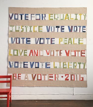 The Proverbial Quilt  Election Quilt Ocotober 2016