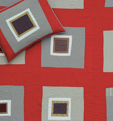 Pretty Square Red Detail
