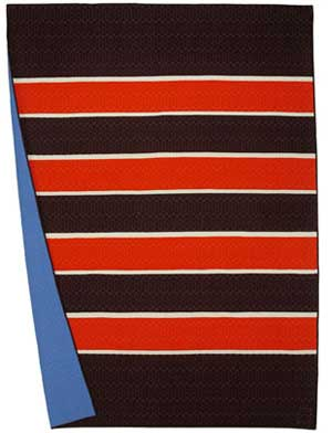 Rugby Stripes Espresso/Geranium/Bone Twin
