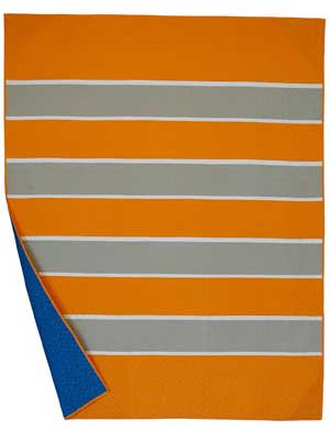 Rugby Stripes Tangerine/Putty/Bone Twin